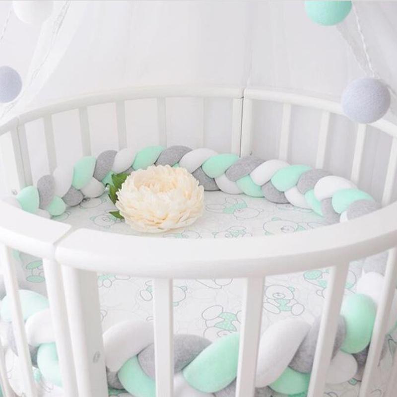 [해외]미니멀리즘 베이비 베드 범퍼 매듭 디자인 신생아 유아용 패드 패드 보호 유아용 침대 범퍼 유아용 실내 장식 용 침구 액세서리 1.5M / 2M/Minimalism Baby Bed Bumper Knot Design Newborn Crib Pad Protection