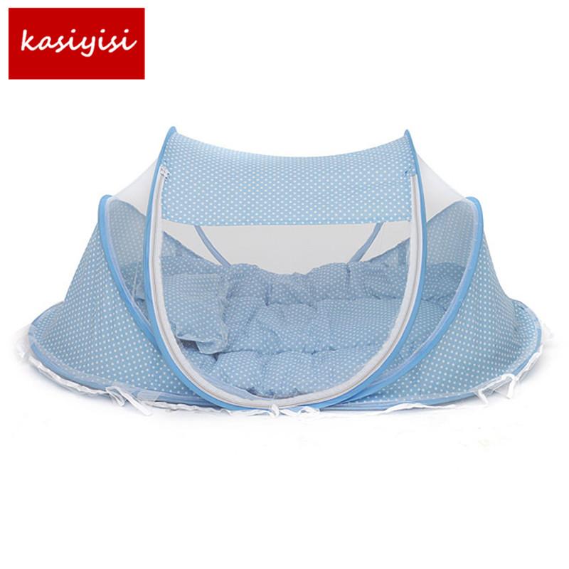 [해외]아기 침대 어린이 침대 접는 아기 음악 모기 네츠 침대 매트리스 베개 3 - 조각 맘대로 0-12 개월 어린이위한/Baby Bedding Crib Netting Folding Baby Music Mosquito Nets Bed Mattress Pillow Thr