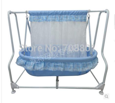 [해외]아기 스윙 cradlesteel 프레임과면 100 % 아기 매트 요람/baby swing cradlesteel frame and 100% cotton baby mat bassinet