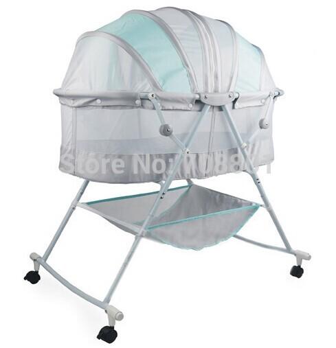[해외]아기 요람 침대 유아 실내 야외 신생아 침대를 침대 배/fold Baby cradle bed infant bed indoor outdoor newborn bed