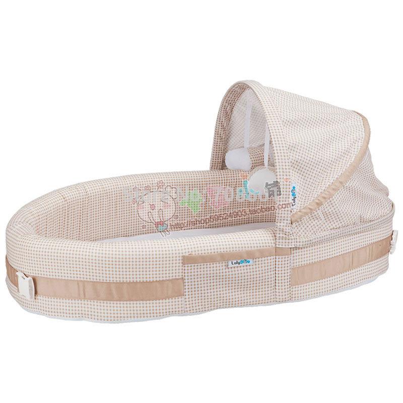 [해외]lulyboo 다기능 접이식 휴대용 4에서 1 아기 라운지 / 아기 요람 바구니 침구 세트 신생아 제품/lulyboo Multifunctional Portable Folding 4-in-1 Baby Lounge/Baby Cradle Basket Bedding S