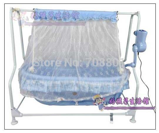 [해외]아기 전기 요람 아기 음악 침대, 블루 스윙 침대, 쇼커의 요람/Baby electric cradle baby music bed, the blue swing bed,shocker cradle