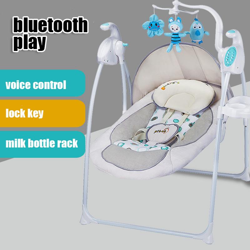 [해외]유아 아기 디럭스 휴대용 전기 흔들 의자 크래들 침대 placating 침대 부드러운 reclining 의자/infant baby deluxe portable electric rocking chair cradle bed placating crib soft rec