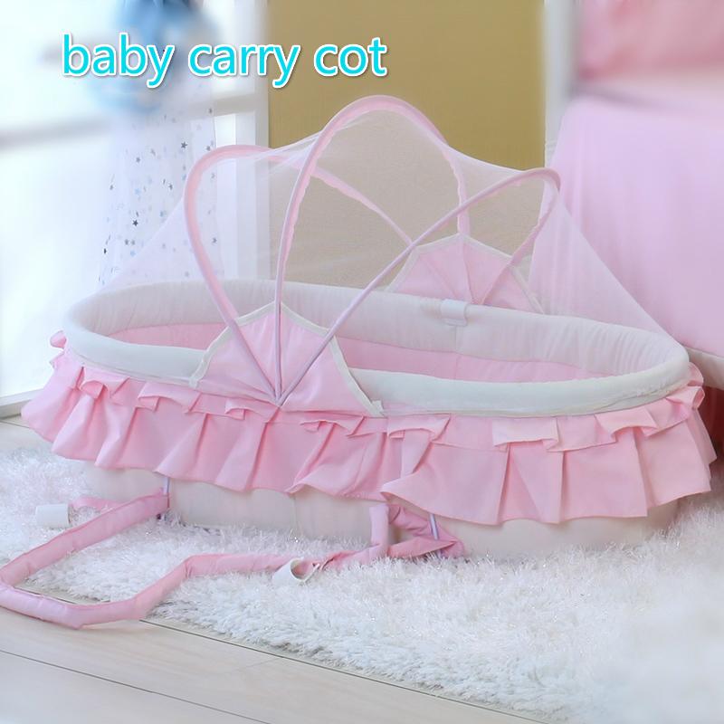 [해외]신생아 아기 편안한 침대 아기 침대 요람 접이식 요람 휴대용 침대 유아 침대 손 바구니 모기장/Newborn Baby Comfortable Carrycot Baby Bassinet Folding Cradle Portable Bed Infant Crib Hand