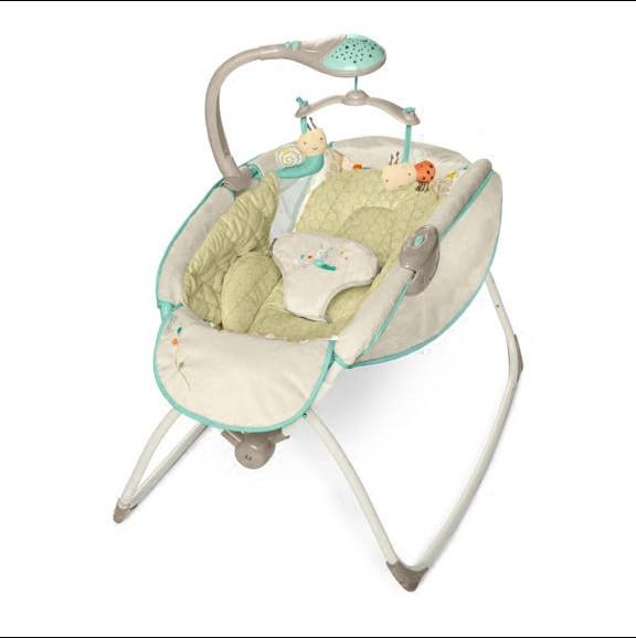 [해외]달빛 락 잠자는 호화로운 아기 요람 전기 흔들 의자 음악 별 아기 침대 어린이 접이식 침대/Moonlight rocking sleeper deluxe baby cradle electric rocking chair music stars baby crib foldi