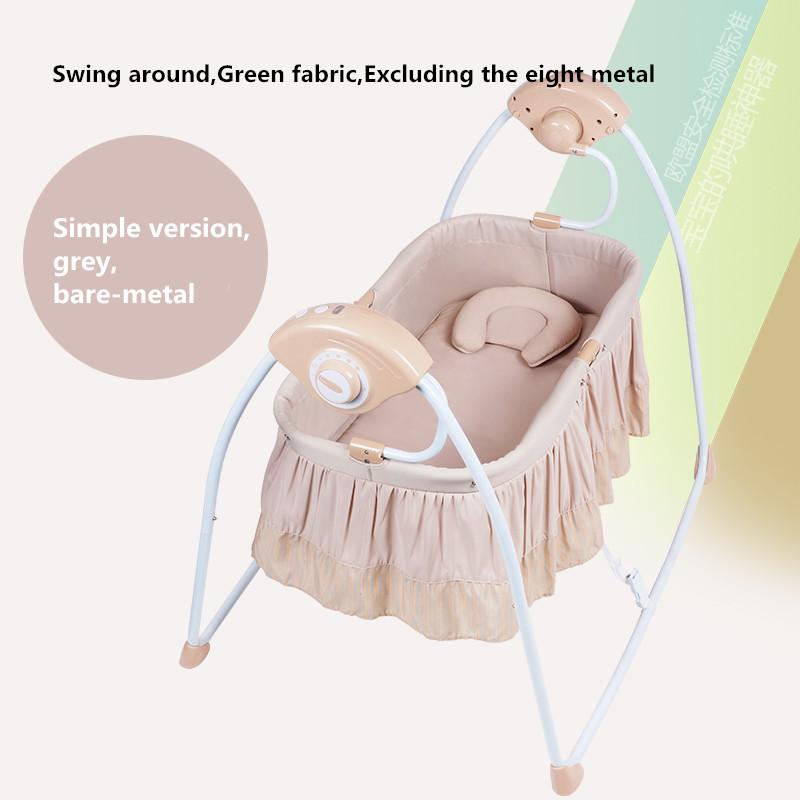 [해외]?다기능 전기 아기 요람 아기 어린이 침대 지능형 휴대용 접는 CradleMusic 및 모기장/ Multifunctional Electric Baby Cradle Baby Crib Intelligent Portable Folding CradleMusic and