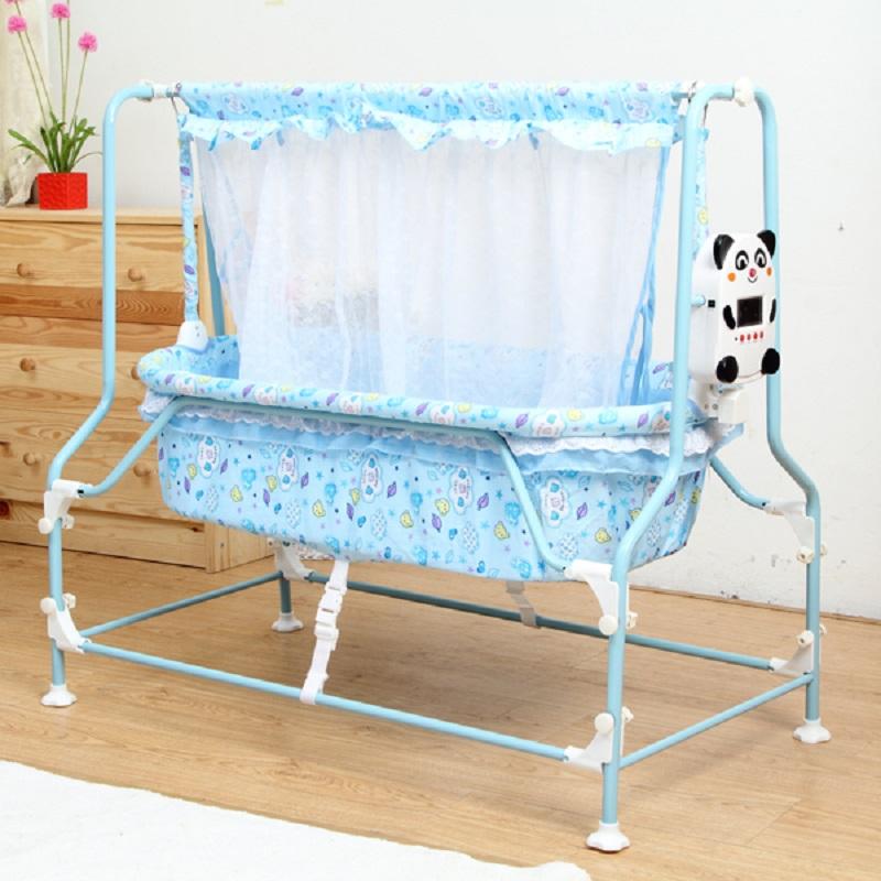[해외]신생아 잠자는 요람 전기 자동 스윙 아기 요람 베이비 침대 핑크와 블루 컬러/newborn baby sleeping cradle electricity auto-swing  baby cradle baby bed pink and blue color