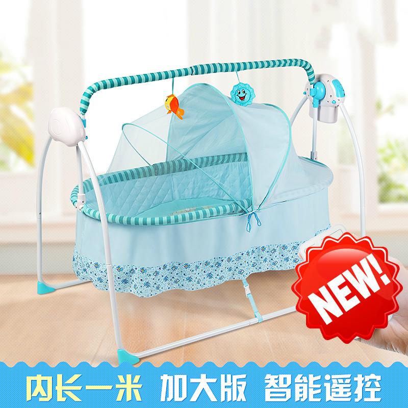 [해외]100cm 길이 다기능 휴대용 아기 침대 전기 요람 신생아 잠자는 바구니 ShakerPower 어댑터 모기장/100cm Lenght Multifunctional Portable Baby Bed Electric Cradle Newborn Sleeping Baske