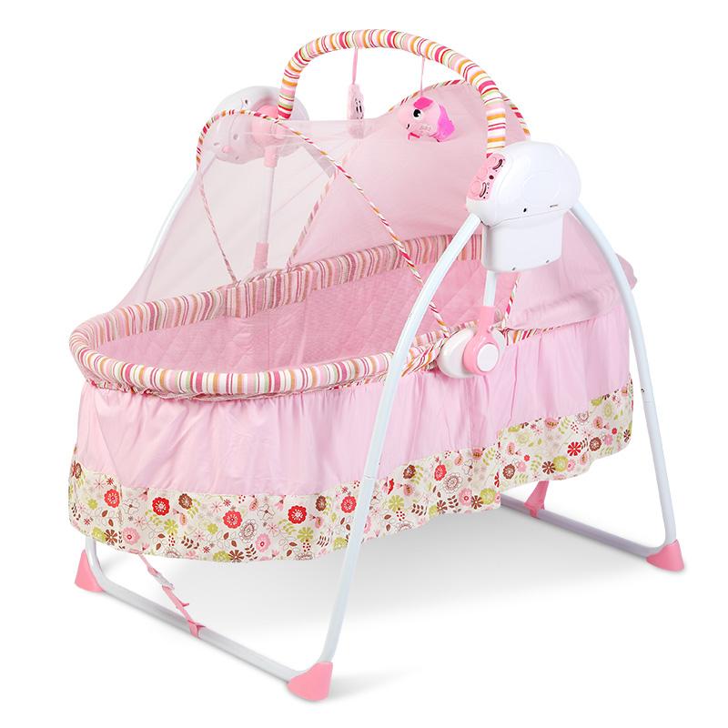 [해외]100cm 전동 베이비 크래들 지능형 스윙 베이비 침대 쉐이커 경비원 자동 접기 아기 침대 신생아 흔들 의자/100cm Lenght Electric Baby Cradle Intelligent Swing Baby Crib Shaker Bouncer Automati