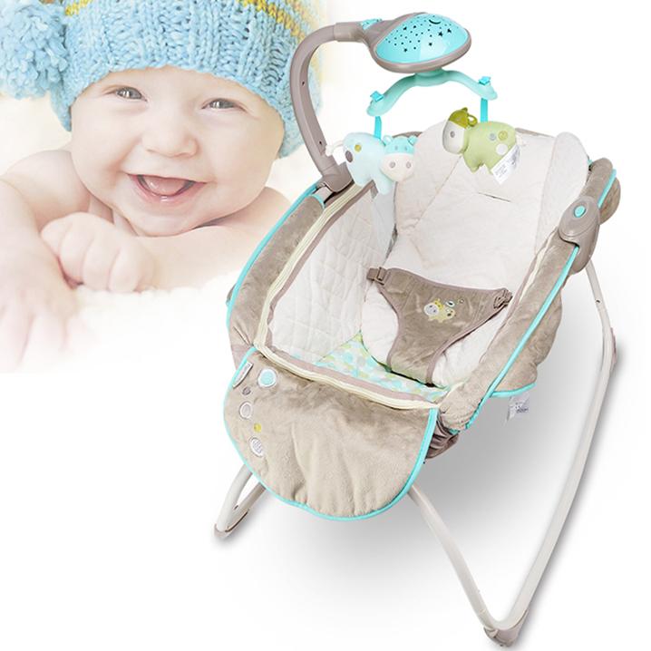 [해외]CH 아기 키즈 락킹 ChairMusic, 접이식 아기 SwingRemovable 장난감 랙, 부드러운 컴포트 시트 Baby Cradle/CH Baby Kids Rocking ChairMusic, Folding Baby SwingRemovable Toy Rack