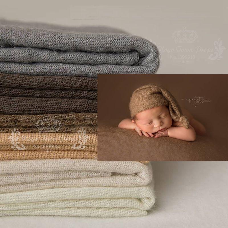 [해외]100 * 160cm 신생아 사진 소품 패브릭 담요, 니트 소프트 스트레치 사진 위장 충성스러운 포즈를 Swaddl 비비 사진/100*160 cm Newborn Photo Props Fabric Blanket, Knit Soft Stretch Photograph