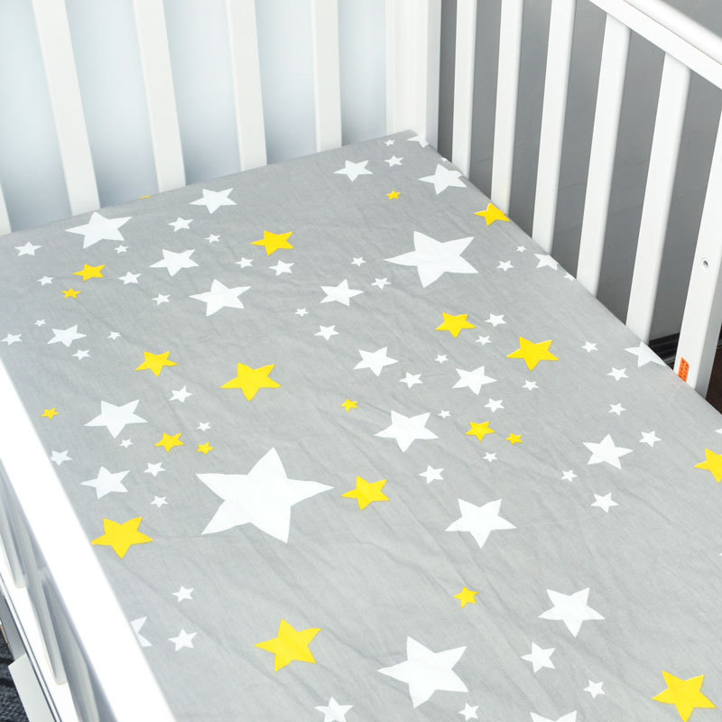 [해외]100 % 코 튼 베이비 플랫 시트 부드러운 아기 침대 매트리스 커버 프로텍터 만화 신생아 침구 침대 크기 130 * 70cm/100% Cotton Baby Flat Sheet Soft Baby Bed Mattress Cover Protector Cartoon
