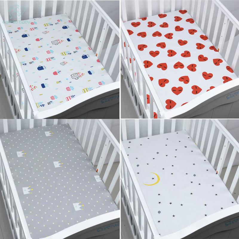 [해외]EGMAO BABY 유기 코 튼 아기 침대 시트 소프트 커버 침대 커버를 착용 소년 여자 120cm * 70cm에 대 한 침구 프로텍터를 뜨개질/EGMAO BABY Organic Cotton Fitted Baby Crib Sheet Soft Cover Bedsp
