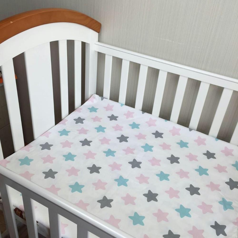 [해외]아기 침대 시트 1pcs 100 % 면화 신생 침대 시트 만화 아기 환경 보호 반응 인쇄 130X70cm/Baby bed sheet 1pcs 100% cotton newborn bedsheets cartoon baby environmental protection