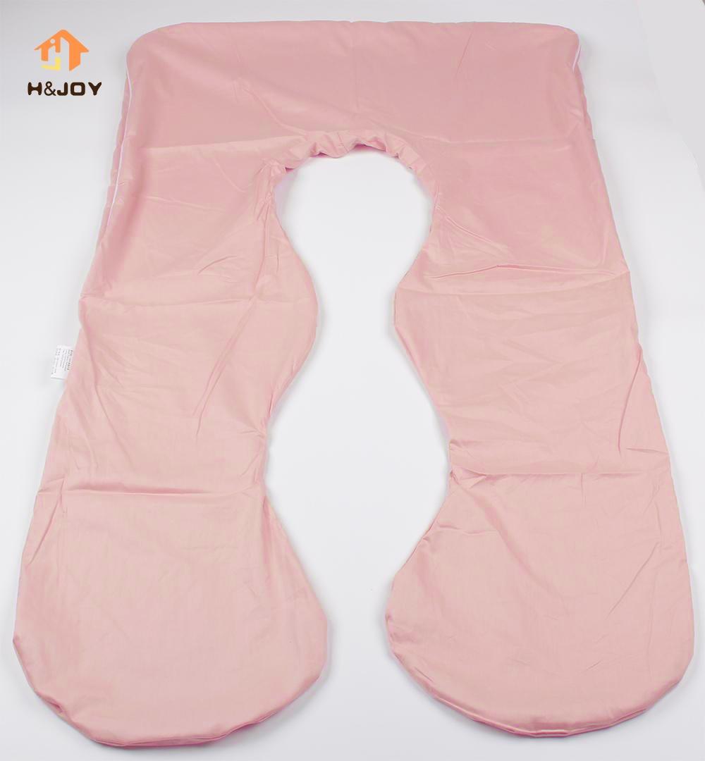 [해외]임신 베개 케이스 이동식 커버 장식 u 모양의 바디 베개 케이스 출산 베개 케이스 분리형 우편 번호 125cm