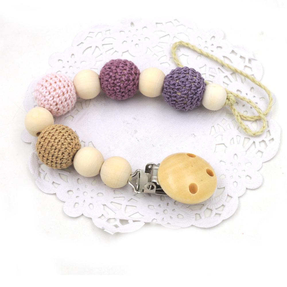 [해외]1 개 판매 shande 핑크 20mm 크로 셰 뜨개질 비즈 젖꼭지 홀더, Unipacifier 클립, 소녀 / 소년 새로운 엄마 선물 NT124a/1 pcs sale shande pink 20mm crochet beads pacifier holder, Unip