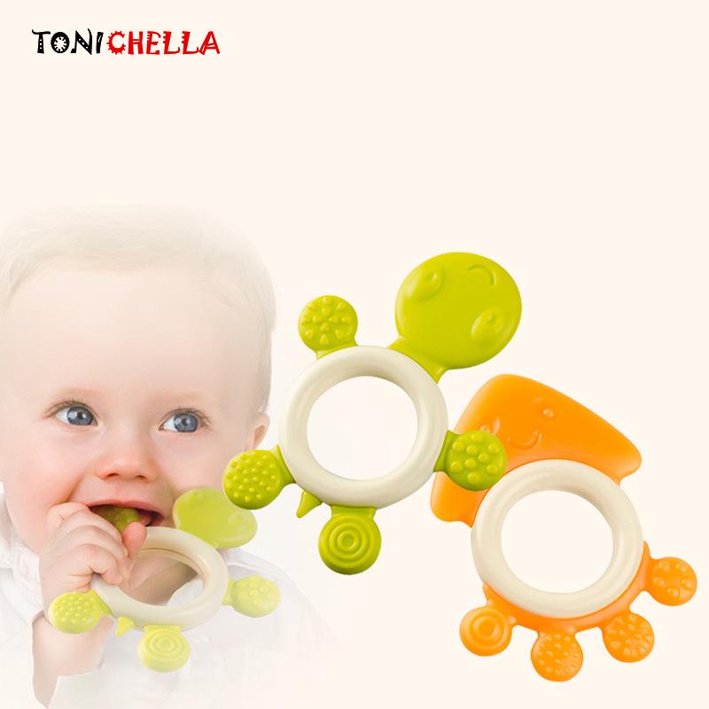 [해외]아기 Teether 젖꼭지 클립 젖꼭지 스틱 안전 귀여운 동물 모양 BPA 무료 실리콘 펜던트 씹는 장난감 케어 강화 T0370/Baby Teether Pacifier Clips Teething Stick Safety Cute Animal Shape BPA Fr