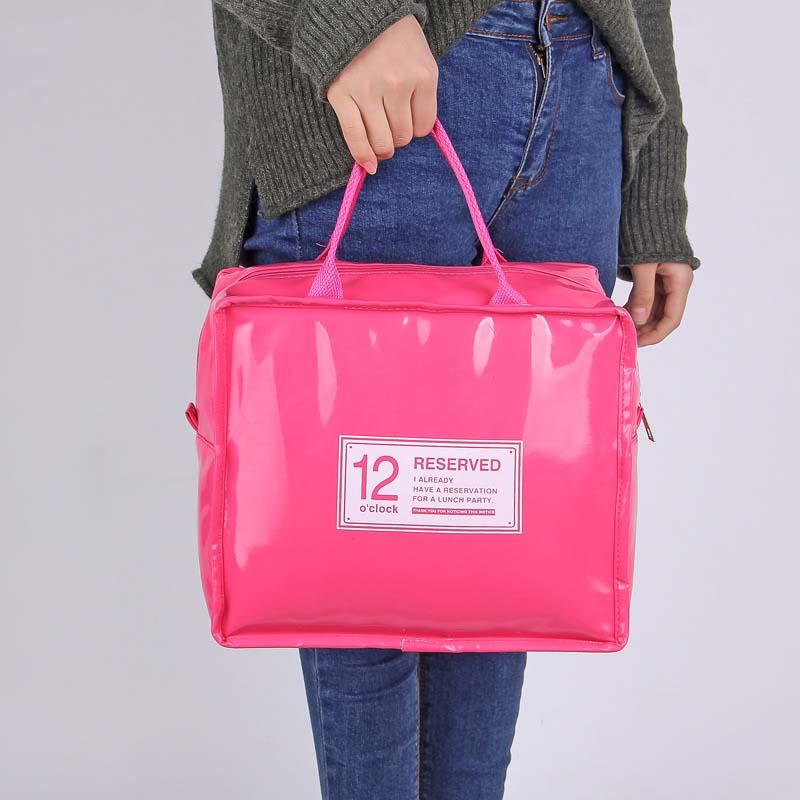 [해외]PU 가죽 점심 패키지 아이스 팩 열 여자를열 아기 병 가방 어린이 Lunchbags Tote 쿨러 도시락 절연 가방/PU Leather Lunch Package Ice Pack Thermo Thermal Baby Bottle Bag for Women Kids