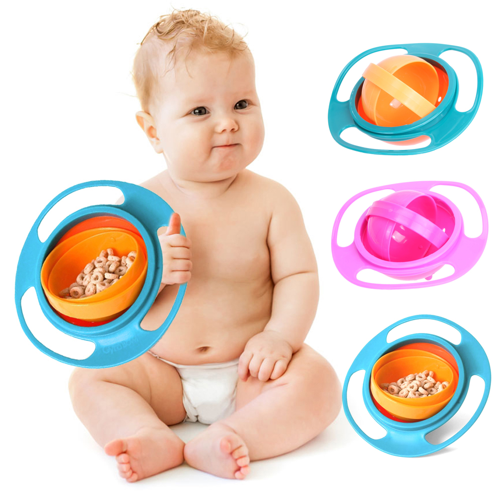 [해외]어린이 먹이 장난감 아기 먹이 요리 귀여운 아기 자이로 그릇 유니버설 360 회전 누출 방지 그릇 사랑스러운 요리/Children Kids Feeding Toy Baby Feeding Dish Cute Baby Gyro Bowl Universal 360 Rota