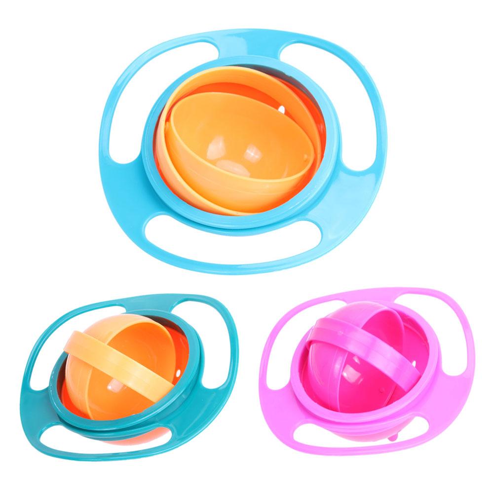 [해외]?아기 먹이 그릇 귀여운 아기 자이로 보울 범용 360 회전 누출 방지 볼/ Baby Feeding Dish Cute Baby Gyro Bowl Universal 360 Rotate Spill-Proof Bowl