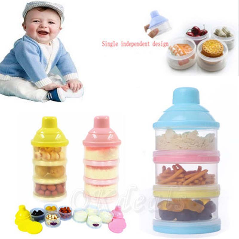 [해외]유아용 PP 디스펜서 분유 용기 보관 상자/PP Dispenser Milk Powder Container Storage Feeding Box for Infants
