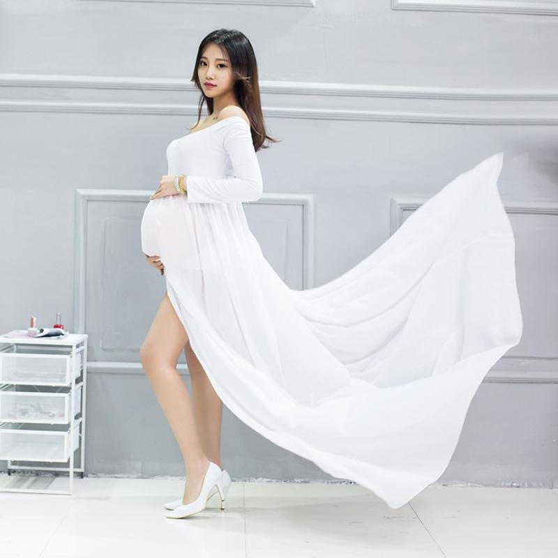 [해외]여성 패션 1PCS 여름 코튼 쉬폰 출산 긴 드레스 긴 Retail 임신 의류 Gravida 임산부 의류에 대한/Women Fashion 1PCS Summer Cotton Chiffon Maternity Long Dress Long Sleeve Pregnancy