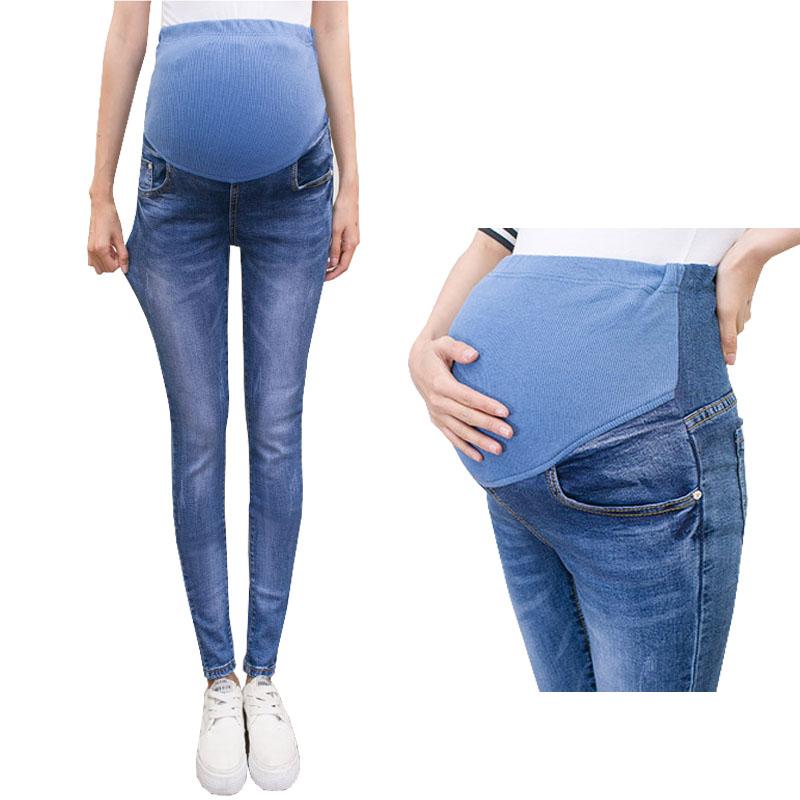 [해외]임신 한 여성을복부 청바지 데님 스키니 바지 간호 출산 의류 신축성 허리 임신 바지 가을 의류/Abdominal Jeans For Pregnant Women Denim Skinny Trousers Nursing Maternity Clothes Elastic Wa