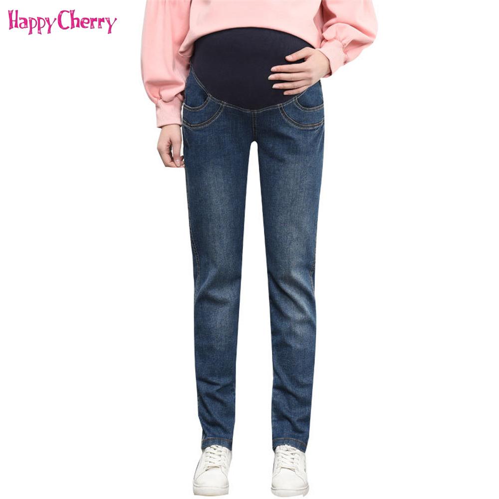 [해외]해피 체리 여성 및 출산 청바지 임신을간호 바지 코튼 바지 탄성 허리 임산부 편안한 옷/Happy Cherry Women&s Maternity Jeans For Pregnancy Nursing Trousers Cotton Pants Elastic Waist Pr