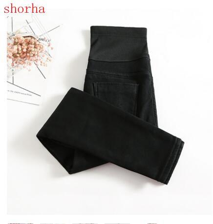 [해외]임신 한 여성 캐주얼 청바지 바지 출산 하이 허리 바지 통기성 배꼽 배꼽 연필 바지 임신 길이 바지 출산/Pregnant Women Casual jeans Pants Maternity High Waist Pants Breathable Care Belly Penc