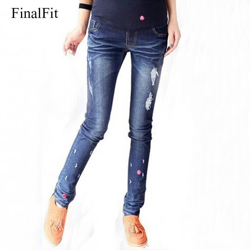 [해외]임산부를FinalFit 출산 청바지 딥 블루 롱 밸리 청바지/FinalFit Maternity Jeans for Pregnant Women Deep Blue Long Belly Jeans