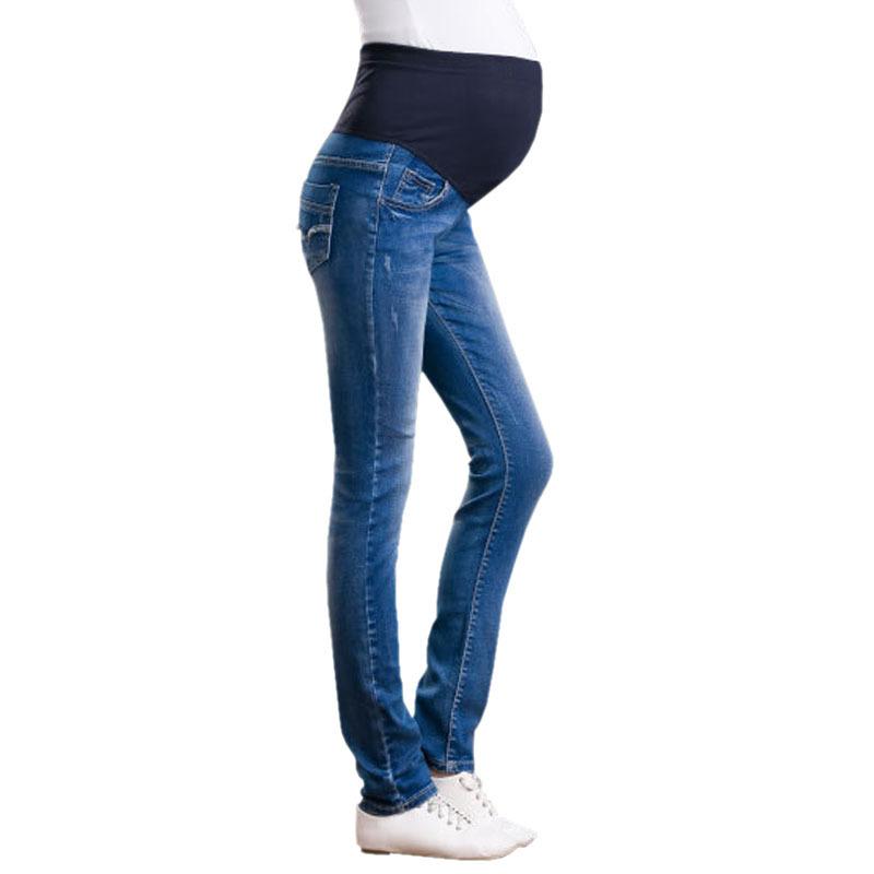 [해외]데님 임산부 용 청바지 플러스 사이즈 신축성있는 허리 롱 팬츠 바지 여성용 임산부 임신복 ropa embarazada leggings/Denim Maternity Jeans Plus size Elastic waist Long Trousers pants for P