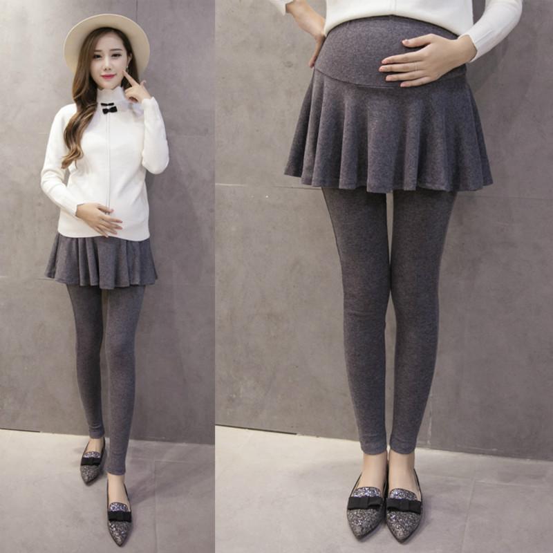 [해외]코튼 모성 바지 허위 두 조각 임신 한 여성을슬림 한 출산 레깅스 하이 웨이스트 배꼽 임신 옷/Cotton Maternity Pants False Two Pieces Slim Maternity Leggings for Pregnant Women High-waist