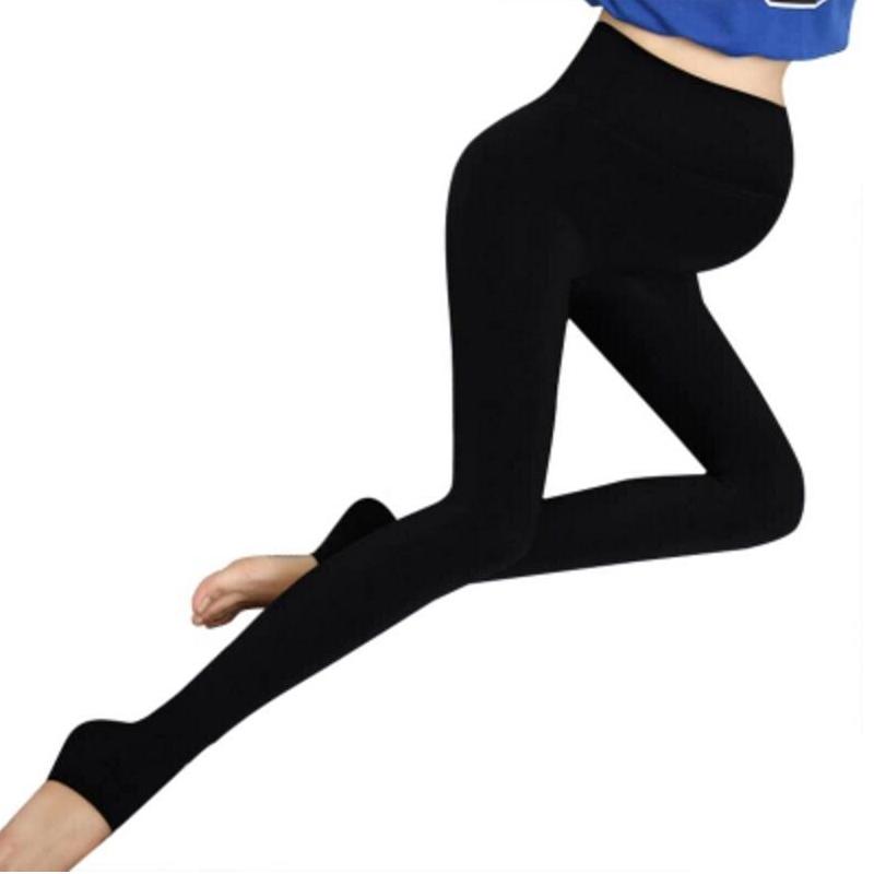 [해외]모성 레깅스 솔리드 플러스 벨벳 튼튼한 가을과 겨울 바지 신축성있는 단계 열 코튼 2017 새로운 운동 레깅스/Maternity Legging Solid Plus Velvet Thickening Autumn And Winter Trousers Elastic St
