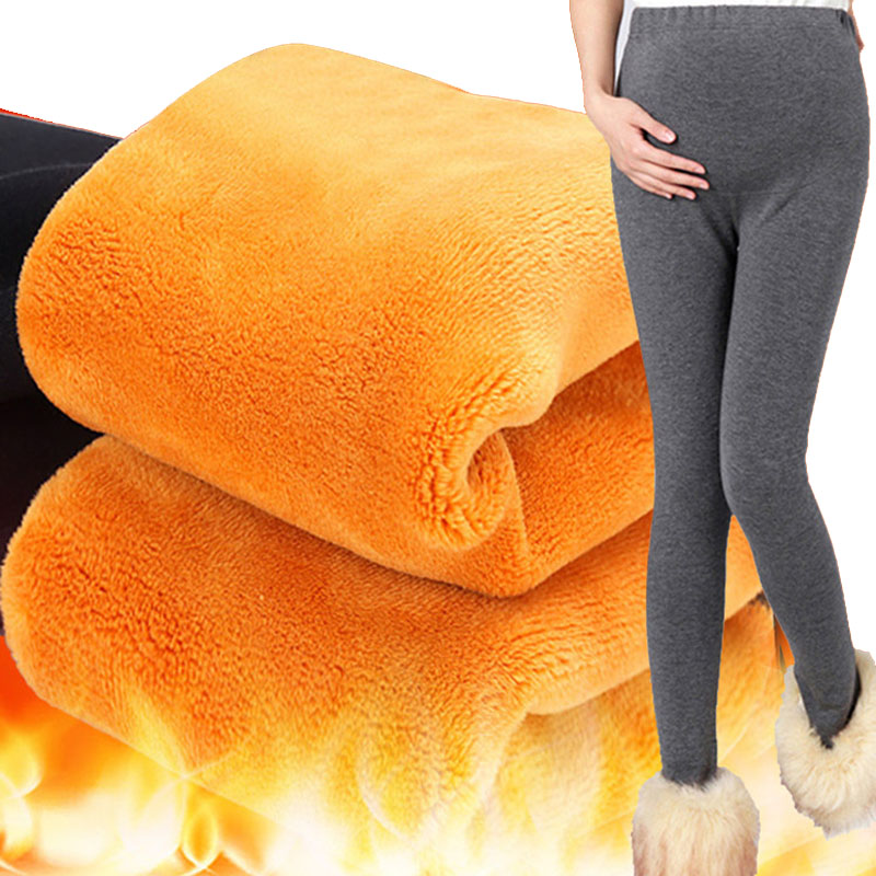 [해외]짙은 임신 임산부 레깅스 임신 한 여성용 벨벳 겨울 의류 바지 하이 웨스트 따뜻한 임신 바지 출산/Thickening Maternity LeggingsVelvet Winter Clothes For Pregnant Women Trousers High Waist W