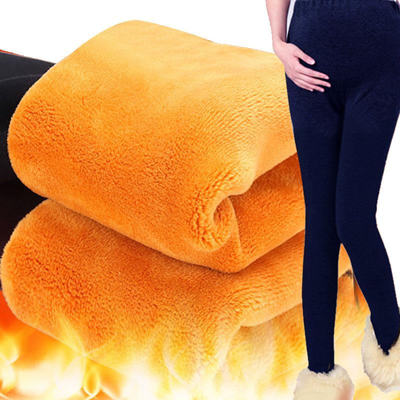 [해외]벨벳 임산부 레깅스와 함께 임신 한 여성을겨울 두꺼운 옷 바지 하이 웨스트 따뜻한 임신 바지 출산/With Velvet Maternity Leggings Winter Thickening Clothes For Pregnant Women Trousers High W