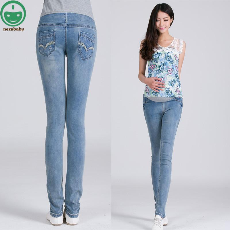 [해외]2017 봄 가을 새로운 브랜드 탄성 출산 바지 임신 데님 청바지 임신 여성을옷 배꼽 바지 바지 YFK12/2017 Spring Autumn New Brand Elastic Maternity Pants Pregnancy Denim Jeans Clothes for