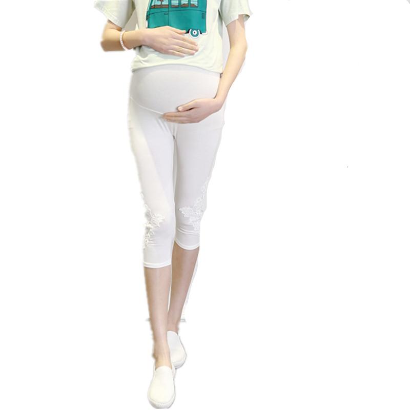 [해외]Yuanjiaxin 임신 한 여성을여름 레깅스 코튼 모성 청바지 임신을바지 흰색 높은 허리의 레깅스/Yuanjiaxin Summer Leggings for Pregnant Women Cotton Maternity Jeans Pants for Pregnancy w