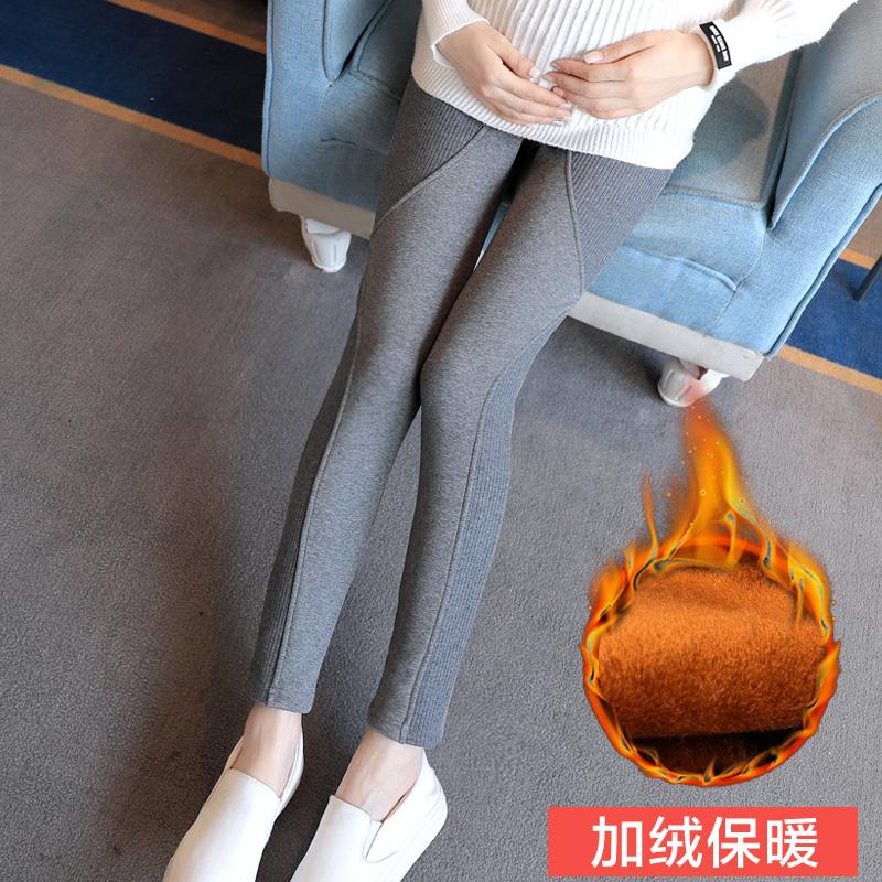 [해외]Pengpious 2017 겨울 임산부 골든 벨벳 면화 & s 복부 레깅스 양질의 출산 높은 허리 배꼽 바지 따뜻한/Pengpious 2017 winter pregnant women golden velvet cotton&s abdomen leggings
