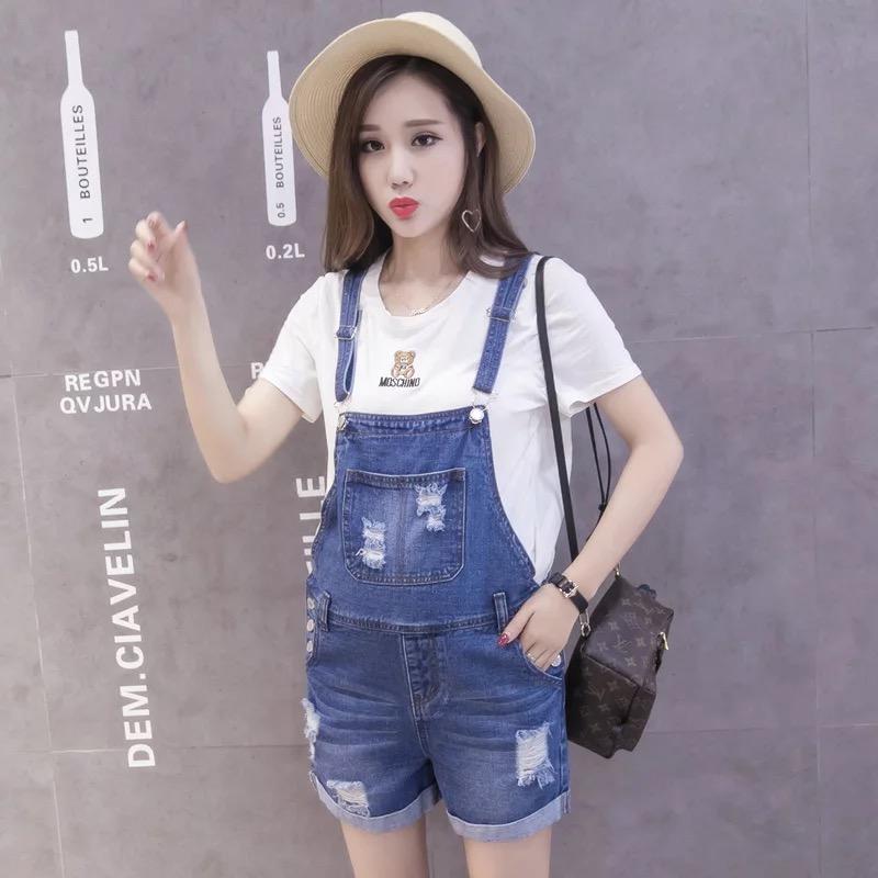 [해외]여름 패션 데님 임산부 청바지 짧은 바지 조정 가능한 아플리케 짧은 바지 청바지 짧은 바지 짧은 바지/Summer Fashion Denim Maternity jeans Short Overalls Adjustable Appliques Short Jeans Preg