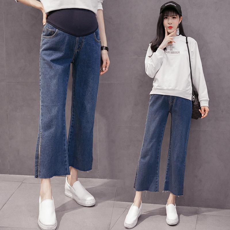 [해외]임신 여성 바지 스트레이트 바지 바지 캐주얼 바지 바지 스트레이트 와이드 바지 임산부 청바지/Pregnant women jeans fall care pants casual pants pants straight wide leg pants pregnant women