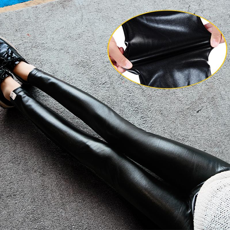 [해외]Pengpious 가을, 겨울 임산부 바지 패션 pu 가죽 배꼽 바지 출산 벨벳 레깅스 블랙 우아한 바지/Pengpious autumn and winter pregnant women trousers fashion pu leather belly pants mate