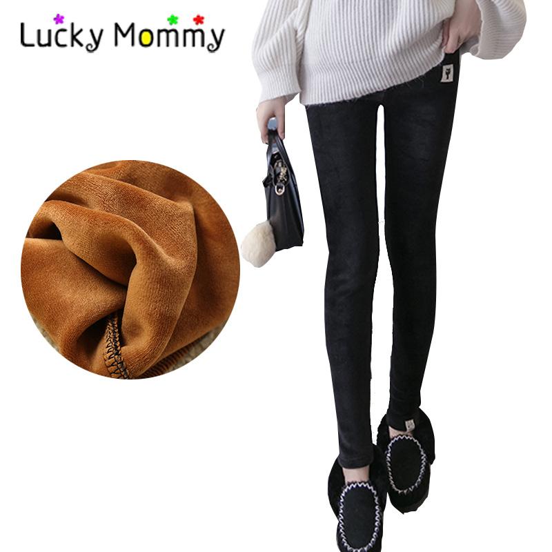[해외]플러스 우 벨벳 따뜻한 출산 바지 레깅스 바지 겨울 가을 출산 의류 임신 한 여성을2017 임신 복/Plus Velvet Warm Maternity Pants Leggings Trousers Winter Autumn Maternity Clothes 2017 Pr