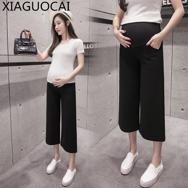 [해외]출산 옷 커프 길이 와이드 레그 팬츠 신축성 모든 경기 허리 배 높은 허리 임신 여성 임신 바지 느슨한 C17 10/Maternity Clothes Calf-Length Wide Leg Pant Elastic All-match Waist Belly High Wa