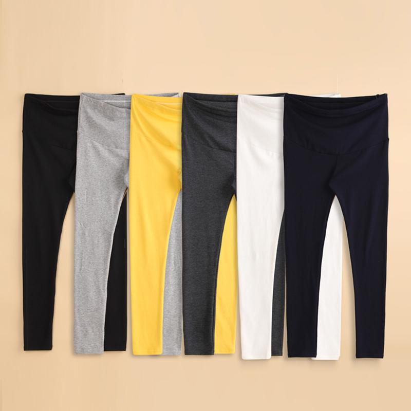 [해외]임신 한 여성 배꼽 바지 바지 2018에 대한 출산 다리가있는 봄 출산 바지 면화 출산 의류 신축성 바지/Maternity legging spring maternity pants cotton maternity clothing elastic pants For Pr