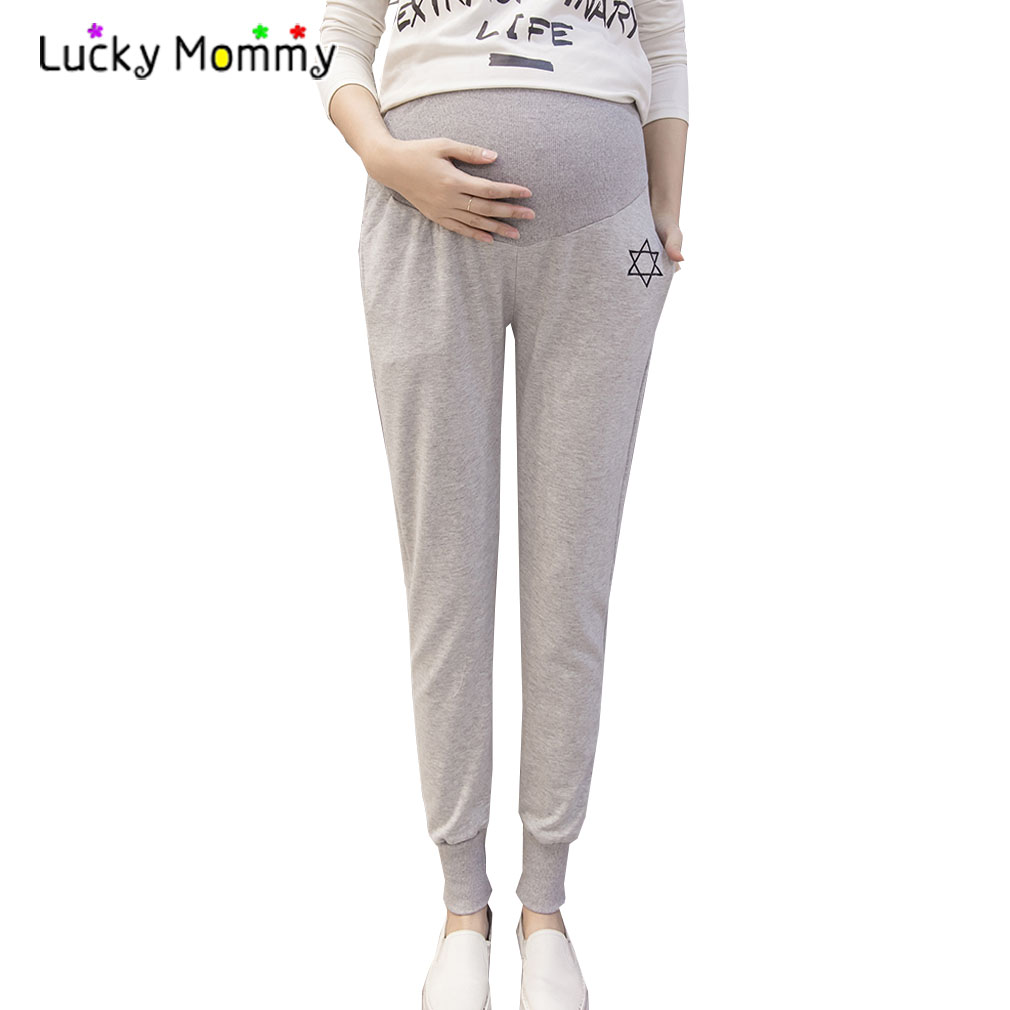 [해외]2017 봄 여름 임신 한 여성을다섯 가지 지적 스타 자수 스포츠 바지 출산 의류 임신 한 바지/2017 Spring Summer Five-pointed Star Embroidery Sports Pants for Pregnant Women Maternity Cl