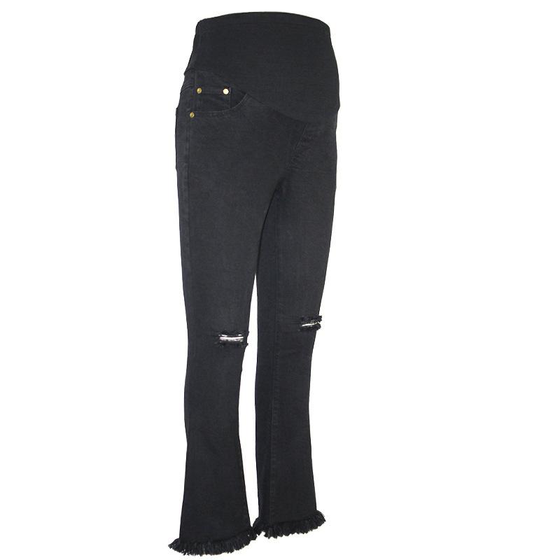 [해외]MAGGIE & S WALKER 임신 한 여성 바지 출산 패션 구멍 부츠 컷 긴 바지 임신 배꼽 탄성 데님 바지/MAGGIE&S WALKER Pregnant Women Pants Maternity Fashion Holes Boot Cut Long Pant