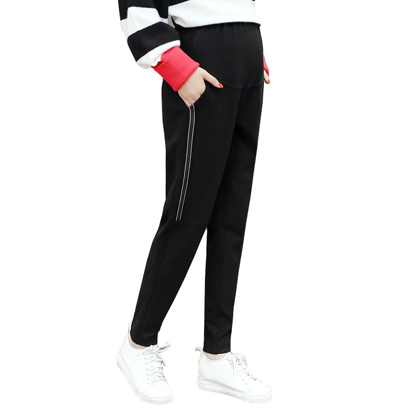 [해외]출산 바지 임산부 바지 가을과 겨울 외부 착용 임산부 배꼽 레깅스의 바지 바지를 착용 바지/maternity pants pregnant women pants autumn and winter outer wear warm pants trousers care of p