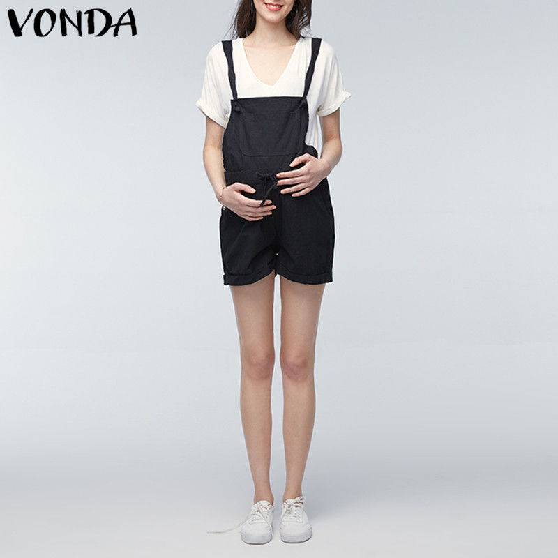 [해외]VONDA Rompers Womens Jumpsuit 2018 Summer 임신 캐주얼 민Retail 출산 Clothings 임신 바지 Trousers Plus Size 5XL/VONDA Rompers Womens Jumpsuit 2018 Summer Pregn