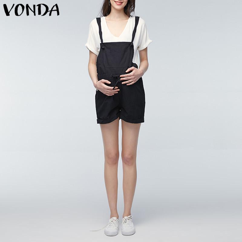 [해외]VONDA Rompers Womens Jumpsuit 2018 Summer 임신 캐주얼 민Retail 출산 Clothings 임신 바지 Trousers Plus Size 5XL/VONDA Rompers Womens Jumpsuit 2018 Summer Pregn