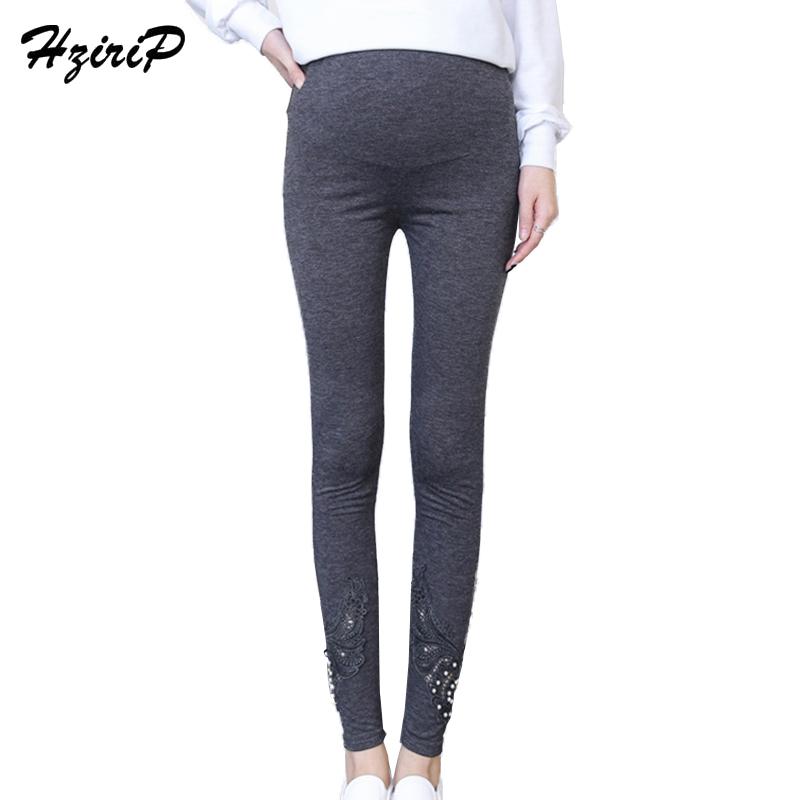 [해외]HziriP 임산부 봄 여름 레깅스 코튼 여성 바지 진주 윙 솔리드 수 놓은 바지 출산 모성/HziriP Pregnant Women Wear Spring Summer Leggings Cotton Female TrousersPearl Wings Solid Embr